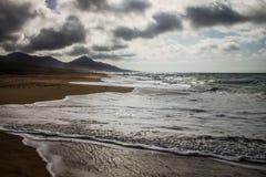 Ansicht von Cofete-Strand stockfotos