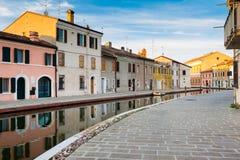 Ansicht von Comacchio, Ferrara, Italien lizenzfreies stockbild