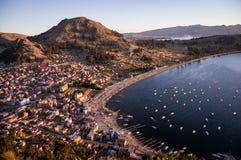 Ansicht von Copacabana, Titicaca-See, Bolivien stockbilder