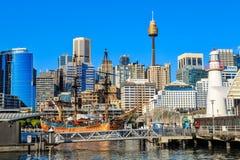 Ansicht von Darling Harbour, Sydney, Australien stockbild