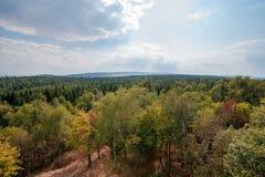 Ansicht von den Erz-Bergen, Tschechische Republik lizenzfreies stockfoto