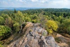 Ansicht von den Erz-Bergen, Tschechische Republik lizenzfreie stockfotografie