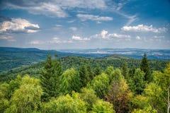 Ansicht von den Erz-Bergen, Tschechische Republik stockbilder