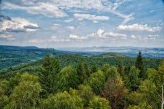 Ansicht von den Erz-Bergen, Tschechische Republik stockfoto