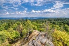 Ansicht von den Erz-Bergen, Tschechische Republik lizenzfreie stockbilder