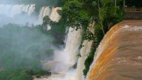Ansicht von den Iguaçu-Wasserfälle in Argentinien stock footage