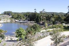 Ansicht von den neuen Gärten errichtet auf Vermächtnis-Weisenbau-Bürostandort Lizenzfreie Stockfotografie