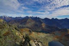 Ansicht von den Polnischbergen Swinica Tatry Lizenzfreie Stockfotos