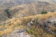 Ansicht von den Ruinen des Griechen - römische Stadt des 3. Jahrhunderts BC - die ANZEIGE des 8. Jahrhunderts Hippus - Susita zu  Stockfotografie