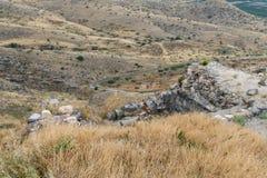 Ansicht von den Ruinen des Griechen - römische Stadt des 3. Jahrhunderts BC - die ANZEIGE des 8. Jahrhunderts Hippus - Susita zu  Stockfotos