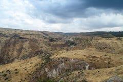 Ansicht von den Ruinen des Griechen - römische Stadt des 3. Jahrhunderts BC - die ANZEIGE des 8. Jahrhunderts Hippus - Susita zu  Stockbild