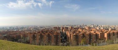 Ansicht von den siete tetas, Madrid Spanien Lizenzfreie Stockfotos