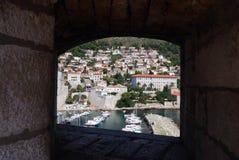 Ansicht von den Stadtmauern Stockfotos