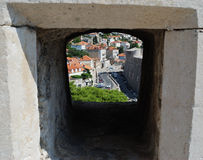 Ansicht von den Stadtmauern Stockbilder
