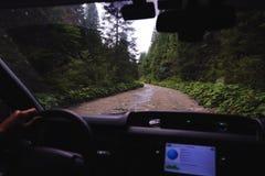Ansicht von den Straßenautos Stockbild