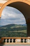 Ansicht von der Abtei Stockbilder