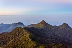 Ansicht von der Adams-Spitze, Sri Lanka Stockfoto