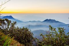 Ansicht von der Adams-Spitze, Sri Lanka Stockbild
