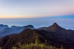 Ansicht von der Adams-Spitze, Sri Lanka Lizenzfreie Stockbilder