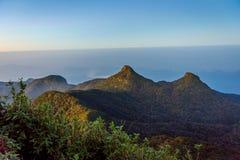 Ansicht von der Adams-Spitze, Sri Lanka Lizenzfreie Stockfotos