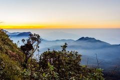 Ansicht von der Adams-Spitze, Sri Lanka Lizenzfreies Stockfoto