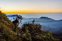 Ansicht von der Adams-Spitze, Sri Lanka Stockbilder