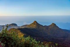 Ansicht von der Adams-Spitze, Sri Lanka Stockfotos