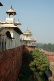 Ansicht von der Agra-Fortwand, Uttar Pradesh, Indien Lizenzfreie Stockbilder