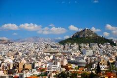 Ansicht von der Akropolise Stockbild