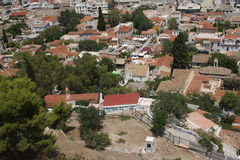 Ansicht von der Akropolise Lizenzfreie Stockbilder