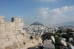 Ansicht von der Akropolise von Athen Griechenland Stockfotografie