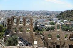 Ansicht von der Akropolise Athen, Griechenland stockbilder