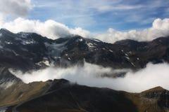 Ansicht von der alpinen Straße lizenzfreies stockbild