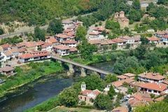 Ansicht von der alten Stadt Veliko Tarnovo Stockfoto