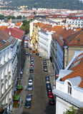 Ansicht von der Aussichtsplattform auf der alten Stadt, Prag, Tschechische Republik Lizenzfreies Stockfoto