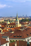 Ansicht von der Aussichtsplattform auf der alten Stadt, Prag, Tschechische Republik Lizenzfreie Stockfotografie
