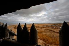 Ansicht von der Barrikade stockfoto