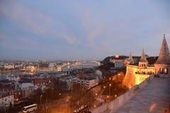 Ansicht von der Bastion des Fischers von Ungarn Lizenzfreie Stockfotos