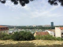 Ansicht von der Belgrad-Festung Lizenzfreies Stockbild