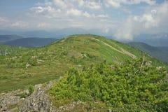 Ansicht von der Bergspitze Stockfotos