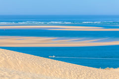 Ansicht von der Düne von Pyla, Arcachon-Bucht Stockfotografie