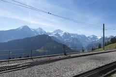 Ansicht von der Eisenbahn Schynige Platte Lizenzfreie Stockbilder