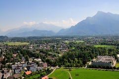 Ansicht von der Festung von Salzburg stockfoto