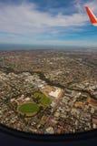 Ansicht von der Fläche, Adelaide-Stadt Stockfotos