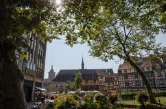 Ansicht von der französischen Stadt Colmar Lizenzfreies Stockbild
