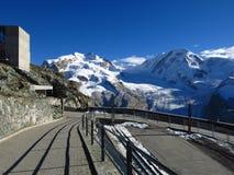 Ansicht von der Gornergrat-Bergstation Stockfotos