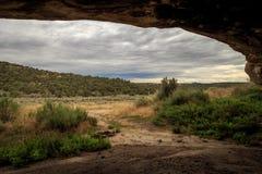 Ansicht von der Höhle stockbild