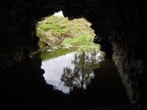 Ansicht von der Höhle stockfoto