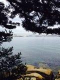 Ansicht von der Haifisch-Insel Lizenzfreie Stockbilder