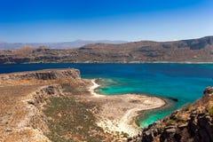 Ansicht von der Insel von Gramvousa lizenzfreie stockbilder